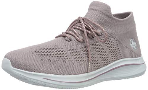 Rieker Damen Frühjahr/Sommer N9863 Sneaker, Violett (Flieder 30), 38 EU