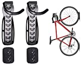 Dirza Bike Wall Mount Rack with Tire Tray - Vertical Bike Storage Rack for Indoor,Garage,Shed - Easy to install - Great for Hanging Road,Mountain or Hybrid Bikes - Screws Included - 2 Pack