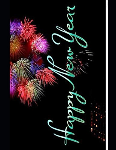 New Year's Eve Garland Notebook with Glossy Cover | Wide-Ruled 120 Pages |Perfect gift, presents for dad, Mom, Kids, Grandfather, Friends, Family , Christmas Paperback