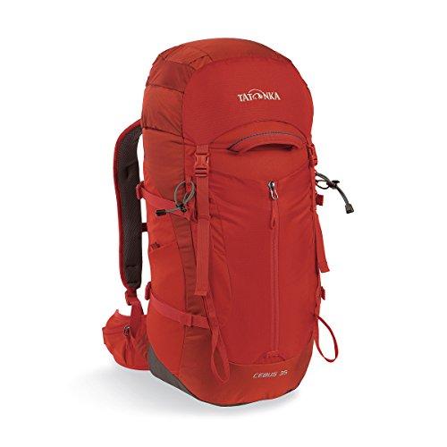 Tatonka Cebus 35 - Touren- und Kletterrucksack mit Befestigung für Helm und Kletterseil - 35 Liter - Männer und Frauen - rot