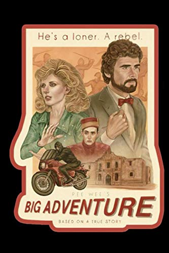 Tim Burton Pee Wee's Big Adventure Vintage Image Notebook: (110 Pages, Lined, 6 x 9)