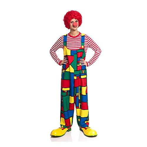 Kostümplanet Clown-Latzhose Damen für Clown-Kostüm lustiges Faschingskostüm große Größen 40