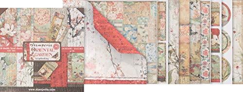 Stamperia International KFT SBBL58 Hojas de papel - jardín oriental, Multicolor, 30.5...