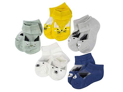 SYEEGCS - Calcetines para niños y niñas (5 pares, algodón transpirable, transparente, lana de cristal, talla M)