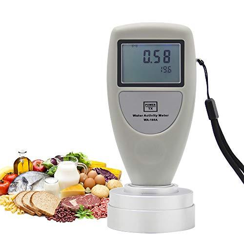 CGOLDENWALL Wasser-Aktivitätsmesser WA-160A Lebensmittel-AW-Tester Feuchtigkeitsmesser Wasser-Analysator Werkzeug für Getreide, Obst, Gemüse, Brot, Kekse, Kuchen, Puffed Food