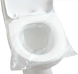 Asiento de inodoro desechable antibacteriano impermeable portátil WC Pad Alfombrilla de inodoro para bebé embarazada mamá, embalaje independiente