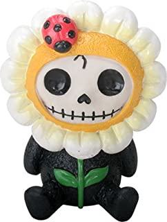 Best Ebros Gift Furrybones Daisy Figurine Sunflower Hooded Skeleton Monster with Ladybug Collectible Sculpture Decorative Reviews