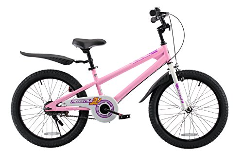 RoyalBaby Kids Bike Boys Girls Freestyle BMX Bicycle With Kickstand Gifts for Children Bikes 20 Inch Pink