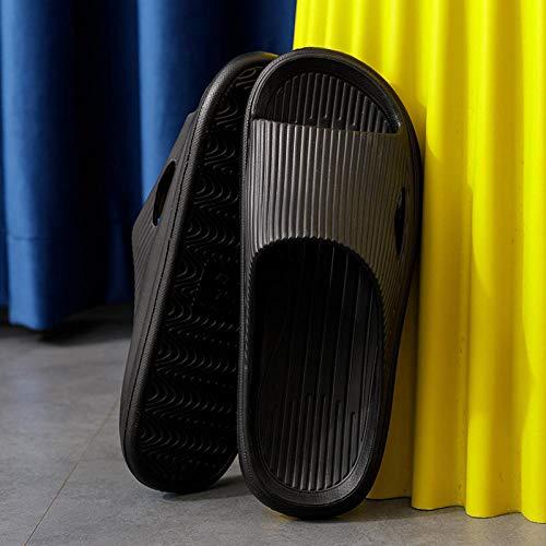 Zapatillas de baño Antideslizantes ultraligeras, Interior con Pareja Antideslizante-Negro_40-41, Baño Sandalia Suela De Espuma Suave Zapatos