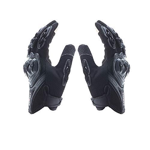 Lightinthebox Motorradhandschuhe für Finger Vollmaterial aus Nylon Waterproof und rutschfeste Handschuhe mit antistatischem Touchscreen. X-Large Schwarz