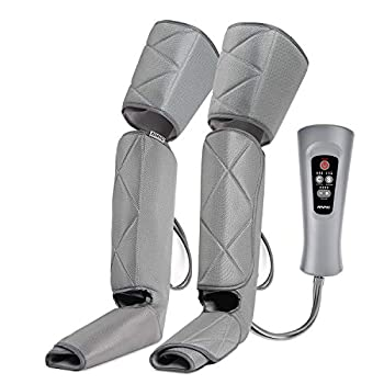 Renpho Leg Massager for Circulation and Relaxation Calf Feet Thigh Massage Sequential Wraps Device with 6 Modes 4 Intensities Helps to Relax Legs Gifts for Men Father