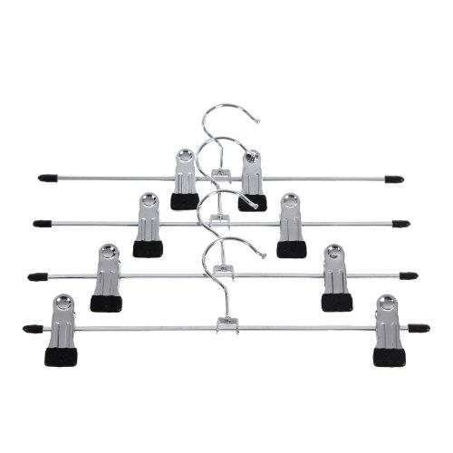 SONGMICS 100 unidades antideslizante percha metálica ajustables para 31 x 10.5cm CRI003-100