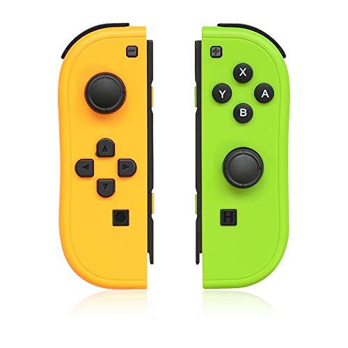 QUMOX Reemplazo del Controlador Mando Joy-con para Nintendo Switch con Correas YG