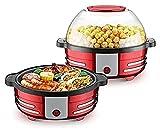 LITINGT Máquina de Palomitas de maíz con agitador Loco de Aceite Caliente eléctrico con agitador, Puede Contener un tazón y 6 Cuartos de galón Rojo (tamaño: 28x15cm)
