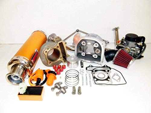 Best Review Of scooter 100cc Big Bore Kit Performance Power Pack Gold Exhaust Chinese Parts
