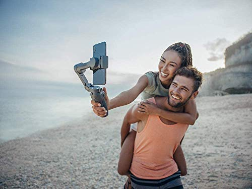 DJI Osmo Mobile 3, 3-Achsen-Smartphonestabilisator Kompatibel mit iPhone und Smartphone Android, Leichtes und tragbares Design, stabile Aufnahme & Rode VideoMicro kompakt On Camera Microphone