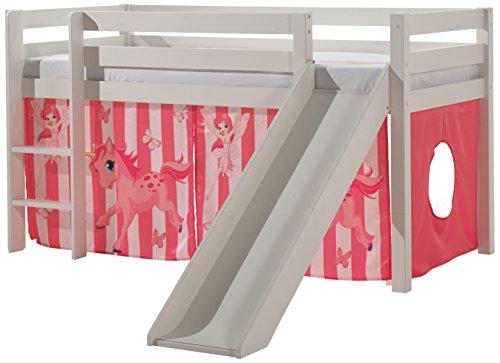 VIPACK PICOHSGB1478 Spielbett Pino mit Rutsche und Textilset
