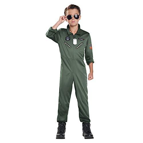 California Costumes Child Unisex Fighter Pilot Child Costume Army...