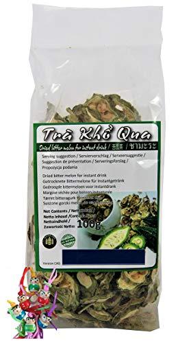 yoaxia ® - [ 100g ] Gohyah Tea / Bittermelone Tee / Bitter Melon Tea aus Vietnam + ein kleines Glückspüppchen - Holzpüppchen
