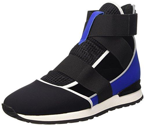 BIKKEMBERGS Damen Kate 652 M.Shoe Cut Out W Lycra/Leather Hohe Sneakers, Schwarz (Black/Blue), 39 EU