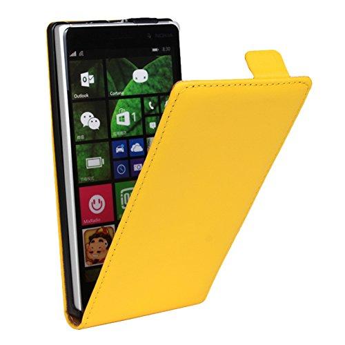 Eximmobile Flipcase Handytasche Etui Tasche für Microsoft Lumia 930 Gelb