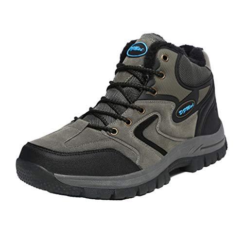 Impermeable Y Transpirable Botas De Montaña Zapatos Deslizamiento Resistente Al Desgaste para Unisex Enviar Calcetines Gris 44 EU