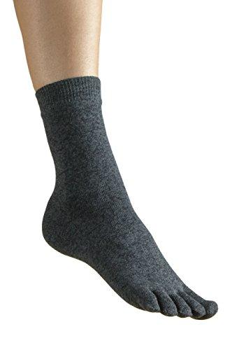 Vitasox 55519 Damen Herren Zehensocken Baumwolle mit gestrickter Ferse Komfortb& einfarbig jeans ohne Naht 2er Pack 36/41