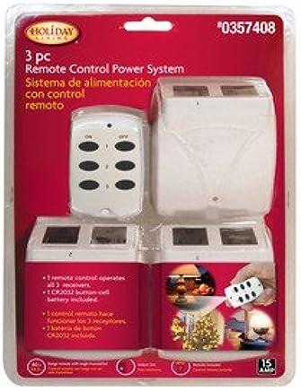 amazon com remote control power strip 3 wireless receivers home