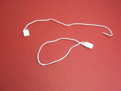 "7"" 100 Pcs White Hang Tag Nylon String Snap Lock Pin Loop Fastener Hook Ties"