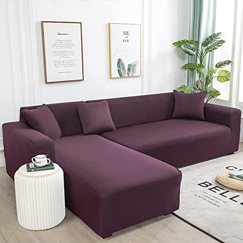 L Shape Need Kaufen Sie 2 Stück Sofabezug Einfarbige Eck-Sofabezüge für Wohnzimmer Elastic Spandex Couchbezug Stretch Slipcovers