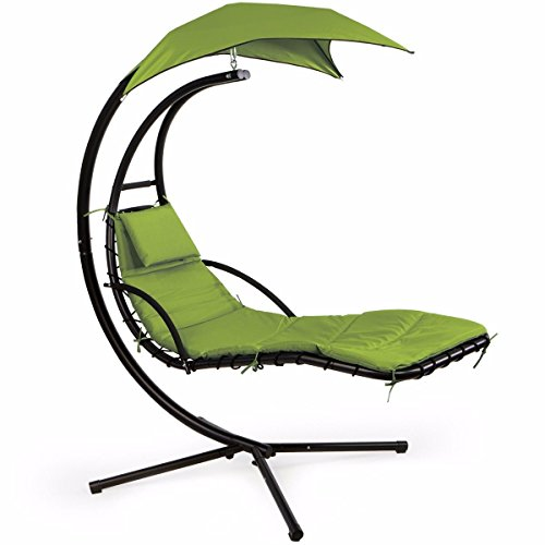 XtremepowerUS Floating Swing Chaise Lounge Chair Hammock Lounger Patio Lounge...