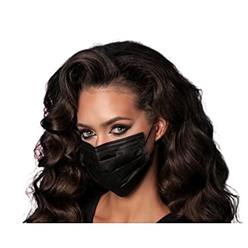 MASSIMO 007 50 Stück Medizinische Masken Schwarz OP Masken Schwarz CE Zertifiziert EN14683 TYP IIR BFE ≥ 98{c75a8665f99873dbac9dc4c9c3b19338507703edd9a6c07a868ef7b0c42dbeba} Schwarze Gesichtsmaske Medizinischer Mundschutz schwarz Mund Nasenschutz schwarz