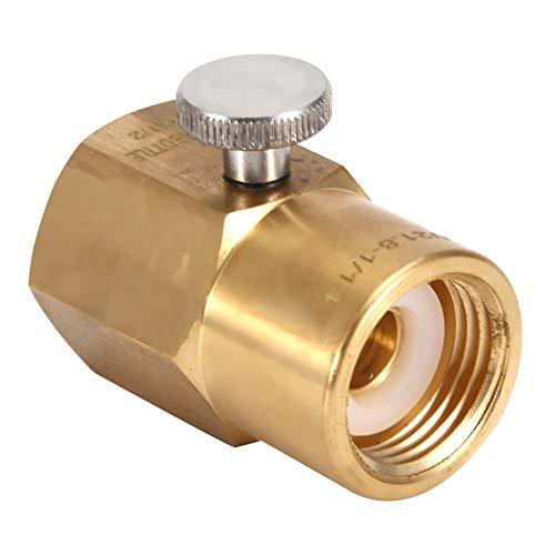 DEWIN CO2 Adapter - Soda Cylinder Adapter Messing Soda Bottle CO2 Anschluss Adapter zum Befüllen von Soda W21.8 auf G1 / 2