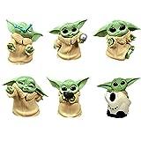 BESTZY Baby Yoda Toy 6 Figuras de Peluche para Bebé Baby Yoda Doll Figure Modelo de Acción para la Oficina o Los Niños(A)