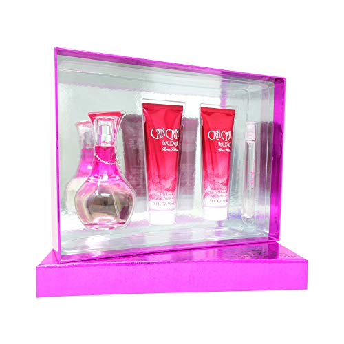 Set Can Can Burlesque 4Pzs 100 ml Edp Spray + Shower Gel 90 ml + Body Lotion 90 ml + 10 ml Edp Spray de Paris Hilton