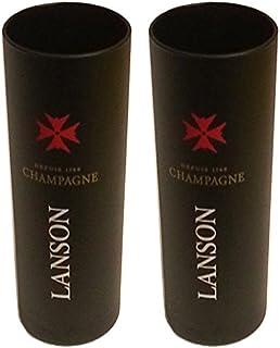 2 x Lanson Champagner Gläser Matt Schwarz Exklusive Bar Edition 0,1l