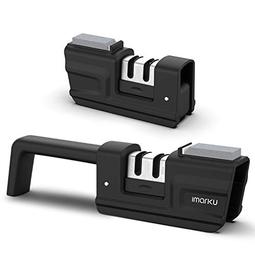 Lowest Price! Knife Sharpener - imarku 2020 New 2-Stage Kitchen Knife Sharpener Knife Accessory Shar...