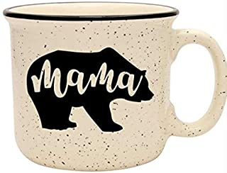 Cute Girly Coffee Mug for Mom, Women - Mama Bear - Sand - Unique Fun Gifts for Her, Wife, Mom, Under $20 - Handmade Coffee Cups & Mugs with Quotes, 14 oz