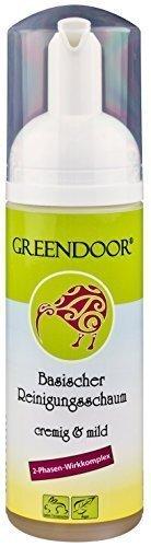 Greendoor milder basischer Reinigungsschaum Gesicht, echte 4,6 Sterne, 2 Phasen, 150ml Reinigungsmilch/Make-up Entferner Lotion, vegane Naturkosmetik, natürlich ohne Tierversuche