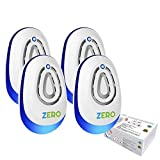 Ultrasonic Pest Repeller Control Reject Devices Electronic in Repellent Defender Home Indoor for Rat Mosquito Mice Spider Ant ROA, 4PACK
