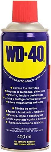 WD-40 Producto Multi-Uso- Spray 400ml-Lubrica, Afloja, Protege del óxido, Dieléctrico, Limpia metales y plásticos y Desplaza la humedad