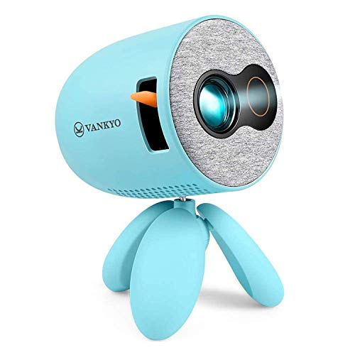 VANKYO Miracle 110 Portable Projector, Portable LED Eye Protection Video Projector 1080P Supported, Ideal for Kids Present, Cartoon, Movie Games, Home Theater, Compatible with TV Stick/Laptop/AV/HDMI