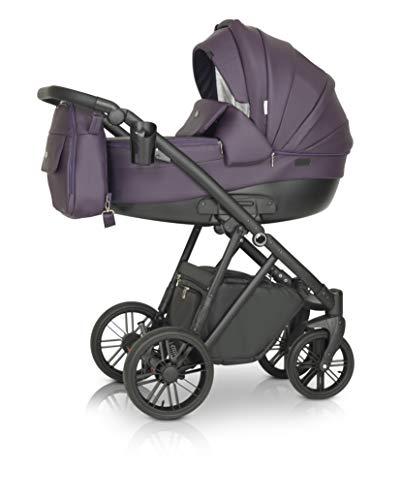 Krausman Kinderwagen 3 in 1 LEXXO Purple Kombikinderwagen Babyschale Babywanne Sportwagen Design Made In Germany