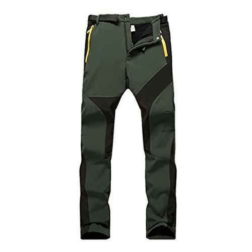 SUKUTU Pantaloni da Trekking Impermeabili in Pile da Donna Soft Shell Pantaloni da Arrampicata all'aperto per attività Sportive addensanti