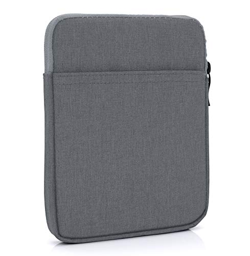 """MyGadget Bolsa de Nylon de 8"""" para E-Reader/E-Book/Smartphone - Estuche Alcochado para Amazon Kindle Paperwhite/Voyage/Oasis/Kobo - Gris Oscuro"""