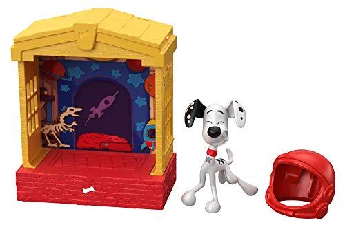 Disney 101 Dalmatian Street Casita para perros con figura Dylan y accesorios, juguete niños +5 años (Mattel GBM27)