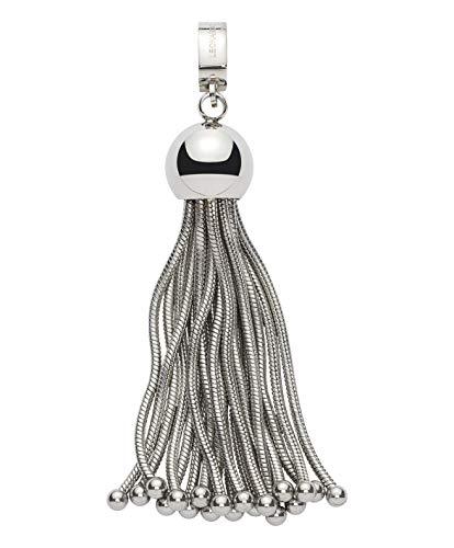 Jewels by Leonardo DARLIN\'S Damen-Anhänger Frangia, Edelstahl in Quastenlook mit Maxi-Clip, Clip & Mix System, Größe (B/H/T): 12/74/12mm, 015557