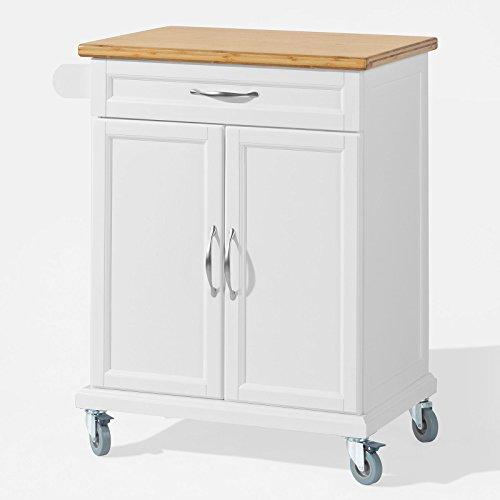 SoBuy Desserte Chariot de Cuisine de Service Meuble de Rangement Roulant L66cmxH90cmxP46cm FKW13-WN