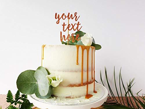Aangepaste gepersonaliseerde taarttopper Gepersonaliseerde bruiloftsdecoratie Aangepaste kalligrafie Toppers Engagement Party Decoraties Uw tekst Hier,