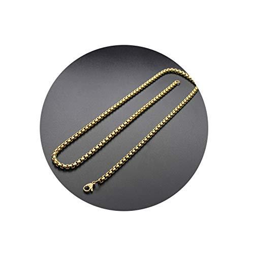 KnBoB Men and Women Chain Necklace Gold Belcher Chain Punk Necklace Length 55CM